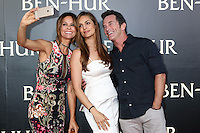 "HOLLYWOOD, CA - AUGUST 16: Brooke Burke-Charvet, Lisa Ann Russell, Jeff Probst at the LA Premiere of the Paramount Pictures and Metro-Goldwyn-Mayer Pictures title ""Ben-Hur"", at the TCL Chinese Theatre IMAX on August 16, 2016 in Hollywood, California. Credit: David Edwards/MediaPunch"