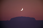 Moon over Ayers Rock, Uluru National Park, Australia