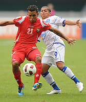 Panama Amilcar Henriquez (21) shields the ball against El Salvador Rudi Corrales (9)    Panama defeated El Salvador in penalty kicks 5-3 in the quaterfinals for the 2011 CONCACAF Gold Cup , at RFK Stadium, Sunday June 19, 2011.