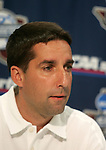 3 December 2005: Head coach Garrett Smith. The University of Portland Pilots held a press conference the day before playing in the NCAA Women's College Cup, the Division I Championship soccer game at Aggie Soccer Stadium in College Station, TX.
