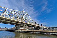 Macombs Dam Bridge over Harlem River, connecting Manhattan and the  Bronx, New York City, New York, USA