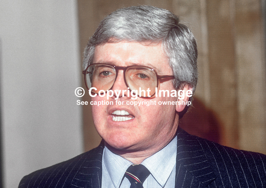John Lavery, MD, Guinness (NI) Limited, February 1986, 19860200JL/C<br /> <br /> Copyright Image from Victor Patterson, 54 Dorchester Park, <br /> Belfast, UK, BT9 6RJ<br /> <br /> t1: +44 28 9066 1296 (from Rep of Ireland 048 9066 1296)<br /> t2: +44 28 9002 2446 (from Rep of Ireland 048 9002 2446)<br /> m: +44 7802 353836<br /> <br /> e1: victorpatterson@me.com<br /> e2: victorpatterson@gmail.com<br /> <br /> www.victorpatterson.com<br /> <br /> Please see my Terms and Conditions of Use at VICTORPATTERSON.COM. It is IMPORTANT that you familiarise yourself with them.<br /> <br /> Images used on the Internet must be visibly watermarked i.e. &copy;VICTORPATTERSON.COM within the body of the image and copyright metadata must not be deleted. Images used on the Internet have a size restriction of 4kbs and are chargeable at the then current NUJ rates.<br /> <br /> This image is only available for the use of the download recipient i.e. television station, newspaper, magazine, book publisher, etc, and must not be passed on to any third party. It is also downloaded on condition that each and every usage is notified within 7 days to victorpatterson@me.com<br /> <br /> The right of Victor Patterson to be identified as the author is asserted in accordance with The Copyright Designs And Patents Act (1988).