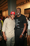"""Julian Hill and NBA Hall of Fame Member Earl """"The Pearl"""" Monroe - Arrivals: New Premium Lounge Signed by INDASHIO Men's Collection Fashion Show at AUDI FORUM, NY  9/13/11"""