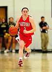26 January 2010: University of Hartford Hawks' guard Jackie Smith, a Junior from Westfield, MA, in action against the University of Vermont Catamounts at Patrick Gymnasium in Burlington, Vermont. The Hawks defeated the Lady Cats 38-36 in a closely matched America East contest. Mandatory Credit: Ed Wolfstein Photo