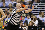 11 March 2016: Referee Brian Dorsey. The University of North Carolina Tar Heels played the University of Notre Dame Fighting Irish at the Verizon Center in Washington, DC in the Atlantic Coast Conference Men's Basketball Tournament semifinal and a 2015-16 NCAA Division I Men's Basketball game. UNC won the game 78-47.
