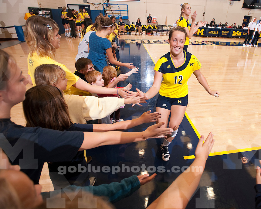 University of Michigan volleyball 3-1 victory over Michigan State at Cliff Keen Arena in Ann Arbor, MI, on October 13, 2010.