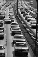 01 Jun 1969, Queens, New York City, New York State, USA --- Highway Traffic on the Van Wyck Expressway --- Image by © JP Laffont