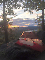 Courtesy photo/KRISTEN LEWIS<br /> Her tent was her home during Lewis' six-month hike of the Appalachian Trail.