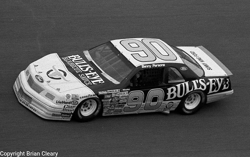 Benny Parsons #90 Ford Daytona 500 at Daytona International Speedway in Daytona Beach, FL on February 14, 1988. (Photo by Brian Cleary/www.bcpix.com)