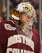 Brad Barone (BC - 29) - The Boston College Eagles defeated the Boston University Terriers 3-1 (EN) in their opening round game of the 2014 Beanpot on Monday, February 3, 2014, at TD Garden in Boston, Massachusetts.