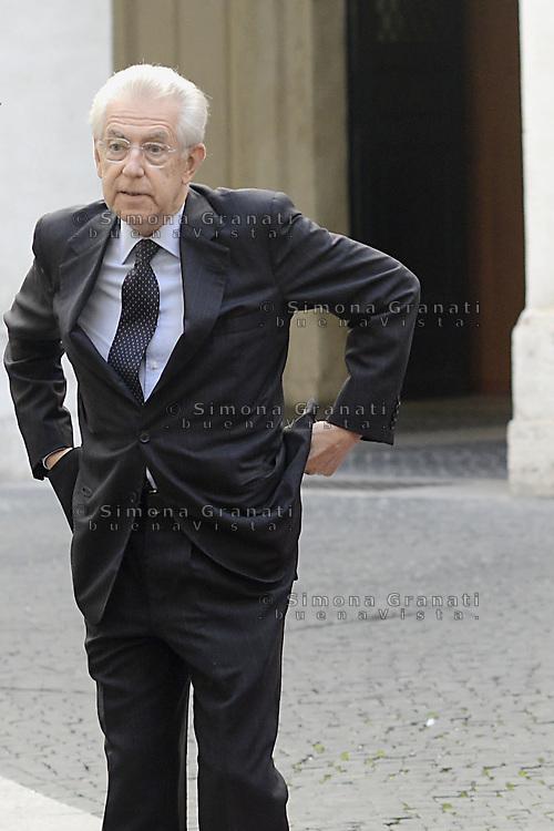 Roma, 21 Settembre 2012.Palazzo Chigi.Incontro tra il primo ministro italiano  Mario Monti e il Premier irlandese Enda Kenny..