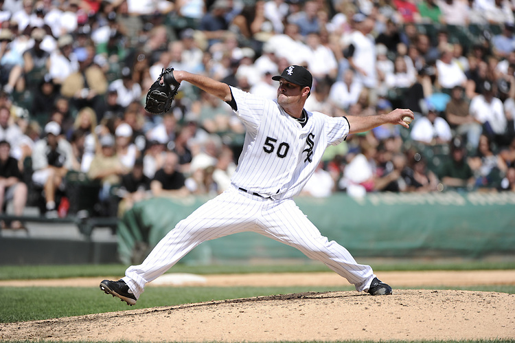 CHICAGO - AUGUST 14:  John Danks #50 of the Chicago White Sox pitches against the Kansas City Royals on August 14, 2011 at U.S. Cellular Field in Chicago, Illinois.  The White Sox defeated the Royals 6-2.  (Photo by Ron Vesely)   Subject: John Danks