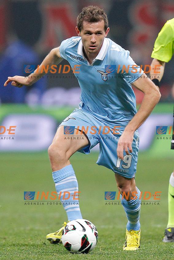 """Senad Lulic Lazio, Milano 2/3/2013 .Stadio """"S.Siro"""".Football Calcio 2012/2013 Serie A.Milan Vs Lazio.Foto Marco Bertorello Insidefoto"""