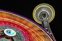 Space Needle, Seattle, Washington, Pacific Science Center, ferris, wheel, ferris wheel