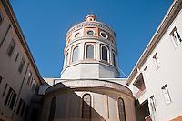 Santuario di Tindari, la cupola inquadrata dal cortile interno.<br /> Tindari sanctuary: the dome