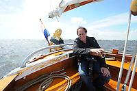 ALGEMEEN: SNEEK: Friese Statenjacht 'Friso' op de Snitser Mar, 30-06-2012, een boeier die in 1894 is gebouwd door Eeltje Holtrop van der Zee ('Eeltsjebaas') in Joure voor Baron van Harinxma thoe Slooten, ©foto Martin de Jong
