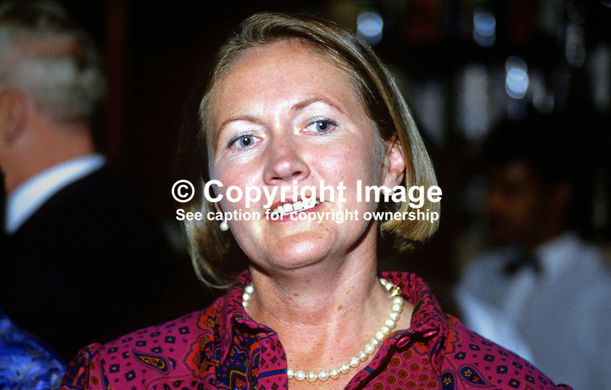 Dr Jennifer Viggers, wife of Peter Viggers, MP, Conservative Party, UK, 19870914JV.<br /> <br /> Copyright Image from Victor Patterson, 54 Dorchester Park, Belfast, UK, BT9 6RJ<br /> <br /> t1: +44 28 9066 1296<br /> t2: +44 28 9002 2446<br /> m: +44 7802 353836<br /> <br /> e1: victorpatterson@me.com<br /> e2: victorpatterson@gmail.com<br /> <br /> www.victorpatterson.com<br /> <br /> IMPORTANT: Please see my Terms and Conditions of Use at www.victorpatterson.com