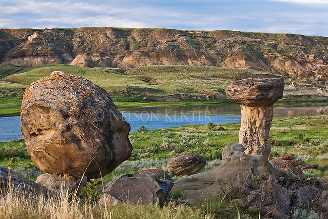 Rock hoodoos along the Marias River above its junction with the Missouri River