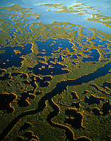 Aerial view Everglades National Park, Florida  March Ten Thousand Islands