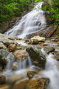 Franconia Notch State Park - Cloudland Falls during the spring months. This waterfall is located on Dry Brook in Lincoln, New Hampshire USA The Falling Waters Trail passes by it.