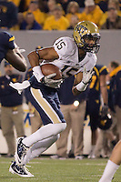 Pitt wide receiver Devin Street. The WVU Mountaineers beat the Pitt Panthers 21-20 at Mountaineer Field in Morgantown, West Virginia on November 25, 2011.