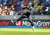 20.02.2015. Wellington, New Zealand.  Martin Guptill in the field during the ICC Cricket World Cup match between New Zealand and England at Wellington Regional Stadium, New Zealand.