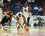 "Ole Miss' Murphy Holloway (31) vs. Grambling State's Bryant Purvis (11) during the first half at the C.M. ""Tad"" Smith Coliseum in Oxford, Miss. on Monday, November 14, 2011.."