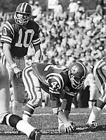 Bubba Wyche Saskatchewan Roughriders quarterback 1971. Copyright photograph Scott Grant/