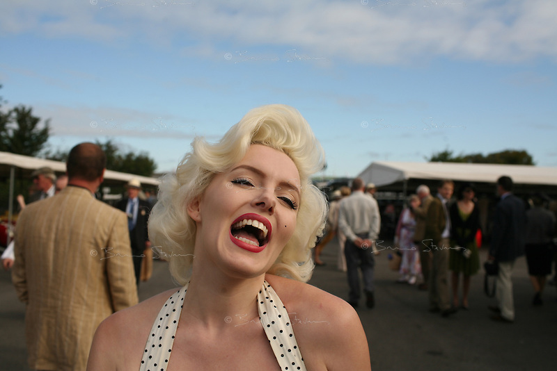 Goodwood Revival, 2007.Marylin was present to congratulate the winners. The Goodwood revival is one of the largest historic car races events in the world; 3 days of racing at the highest level with some of the best pilots past and present driving historically important cars to the limit...and sometimes beyond! 110 000 spectators and participants gather in period costumes for a unique event.
