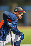 1 March 2017: Houston Astros outfielder George Springer awaits his turn in the batting cage prior to Spring Training action against the Miami Marlins at the Ballpark of the Palm Beaches in West Palm Beach, Florida. The Marlins defeated the Astros 9-5 in Grapefruit League play. Mandatory Credit: Ed Wolfstein Photo *** RAW (NEF) Image File Available ***