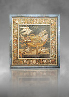 Roman mosaic of birds drinking from Pompeii,  Naples Archaeological Musum, Italy