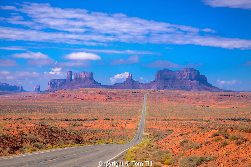 Forest Gump view of Monument Valley, Navajo Reservation, Utah