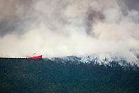 P3 aircraft dumps retardant to suppress the Hastings wildland forest fire near Murphy Dome north of Fairbanks, Alaska.