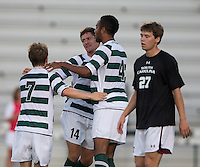 The number 5 ranked Charlotte 49ers play the University of South Carolina Gamecocks at Transamerica field in Charlotte.  Charlotte won 3-2 in the second overtime.  Owen Darby (7), Biko Bradnock-Brennan (4), Nick Barnhorst (14), Stephen Anderson (27)
