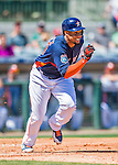 15 March 2016: Houston Astros outfielder Carlos Gomez in action during a Spring Training pre-season game against the Washington Nationals at Osceola County Stadium in Kissimmee, Florida. The Astros fell to the Nationals 6-4 in Grapefruit League play. Mandatory Credit: Ed Wolfstein Photo *** RAW (NEF) Image File Available ***