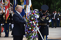 MAY 29 Trump Lays a Wreath at the Tomb of the Unknowns