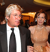 Washington, D.C. - April 30, 2005 -- Richard Gere, left, with Lally Weymouth, right at the 2005 White House Correspondents Association (WHCA) Dinner in Washington, D.C. on April 30, 2005..Credit: Ron Sachs / CNP..(NOTE: No New York Metro or other Newspapers within a 75 mile radius of New York City)