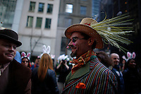 A man dressing up for Easter takes part during the annual easter parade in Manhattan, New York City, 03.27.2016. This annual tradition has been taking place in New York City for over 100 years, Photo by VIEWpress.