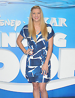 Rebecca Adlington at the &quot;Finding Dory&quot; UK film premiere, Odeon Leicester Square cinema, Leicester Square, London, England, UK, on Sunday 10 July 2016.<br /> CAP/CAN<br /> &copy;CAN/Capital Pictures ***USA and South America Only**