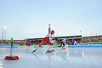 SCHAATSEN: AMSTERDAM: Olympisch Stadion, 02-03-2014, KPN NK Sprint/Allround, Coolste Baan van Nederland, Renz Rotteveel, Koen Verweij, ©foto Martin de Jong