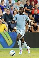 Kei Kamara Sporting KC midfielder in action... Sporting KC defeated Real Salt Lake 2-0 at LIVESTRONG Sporting Park, Kansas City, Kansas.
