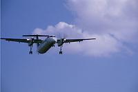 DeHavilland Dash 8 on Final Approach
