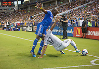 CARSON, Calif. - Saturday, September 12, 2015: The Los Angeles Galaxy and Montreal Impact played to a scoreless draw during Major League Soccer (MLS) play at StubHub Center stadium.