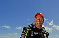 May 30, 2009; Topeka, KS, USA: NHRA top fuel dragster driver Clay Millican during qualifying for the Summer Nationals at Heartland Park Topeka. Mandatory Credit: Mark J. Rebilas-