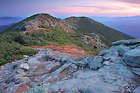 Dramatic fall sunset observed from Franconia Ridge