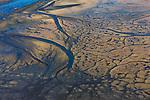 Aerial over a delta at Bristol Bay, Alaska