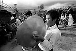 A Zapotec Native musicians play traditional dances during a wedding ceremony in Coatecas Altas village, Oaxaca, November 22, 1998. Most of the villagers of Coatecas leave their home to harvest in northern state of Sinaloa.  © Photo by Heriberto Rodriguez