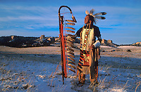Model release,  Lakota Elder Ron Hawks, Nebraska , USA
