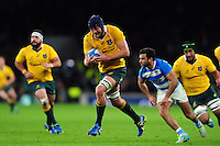 Dean Mumm of Australia goes on the attack. The Rugby Championship match between Argentina and Australia on October 8, 2016 at Twickenham Stadium in London, England. Photo by: Patrick Khachfe / Onside Images