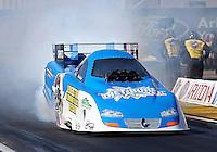 Feb. 22, 2013; Chandler, AZ, USA; NHRA funny car driver Terry Haddock during qualifying for the Arizona Nationals at Firebird International Raceway. Mandatory Credit: Mark J. Rebilas-